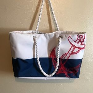 Handbags - Large anchor beach tote rope handle